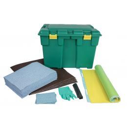 Kit anti-pollution hydrocarbure - Coffre <br> Absorption : 50 L