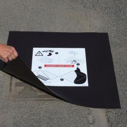Plaque d'obturation magnétique pour regard de 900 x 900 mm