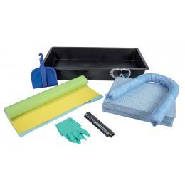 Kit anti-pollution hydrocarbure - Bac collecteur <br> Absorption : 20 L