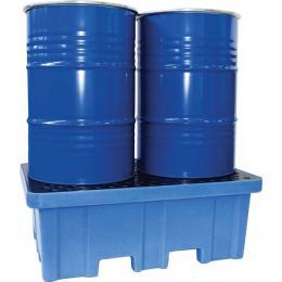 Bac de rétention en plastique - 2 fûts