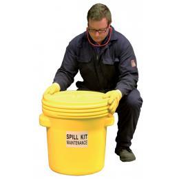 Kit anti-pollution chimique - Fût étanche  Absorption : 60 L