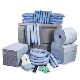 Kit anti-pollution hydrocarbure - Caisse palette  Absorption : 600 L