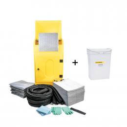 Kit anti-pollution tous liquides - Amoire avec granulés  Absorption : 290 L