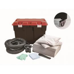 Kit anti-pollution tous liquides - Coffre PE  Absorption : 100 L