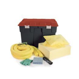 Kit anti-pollution - chimique - Coffre PE  Absorption : 150 L