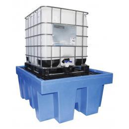 Bac de rétention en plastique <br> 1 cuve de 1000 L