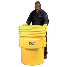Kit anti-pollution chimique - Fût étanche  Absorption : 250 L