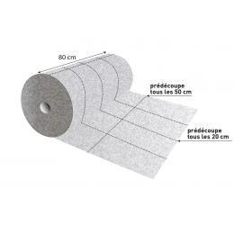 Rouleau absorbant tous liquides  Multi-découpes - 80 cm x 40 m