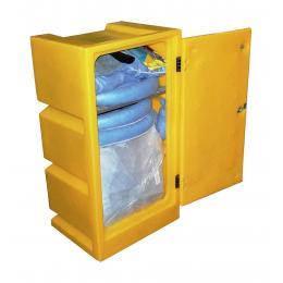 Kit anti-pollution chimique - Armoire avec neutralisant chimique <br> Absorption : 100 L