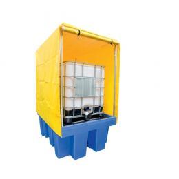 Bac de rétention fermé en plastique  1 cuve 1000 L