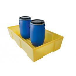 Bac de rétention en plastique <br> Capacité : 230 L