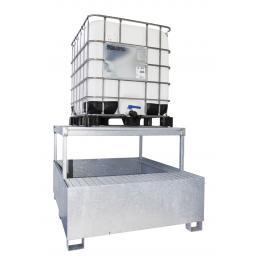 Bac de rétention en acier  1 cuve 1000 L