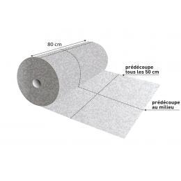 Rouleau absorbant chimique  Absorption rapide - 60 m x 80 cm