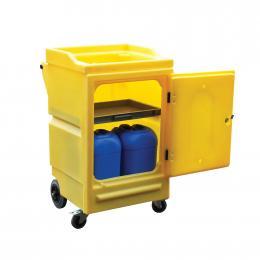 Chariot en plastique pour produits corrosifs  Capacité : 100 L