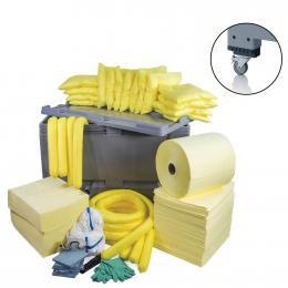 Kit anti-pollution chimique - Caisse palette  Absorption : 600 L