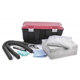 Kit anti-pollution tous liquides - Caisse PE  Absorption : 75 L