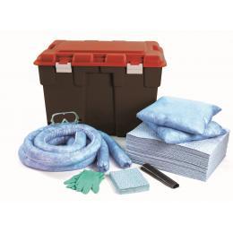 Kit anti-pollution hydrocarbure - Coffre PE  Absorption : 150 L