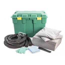 Kit anti-pollution tous liquides - Coffre PE <br> Absorption : 100 L