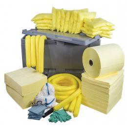 Kit anti-pollution chimique - Caisse palette <br> Absorption : 600 L