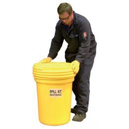 Kit anti-pollution chimique - Fûts PE étanche <br> Absorption : 90 L