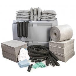 Kit anti-pollution tous liquides - Caisse palette   Absorption : 600 L